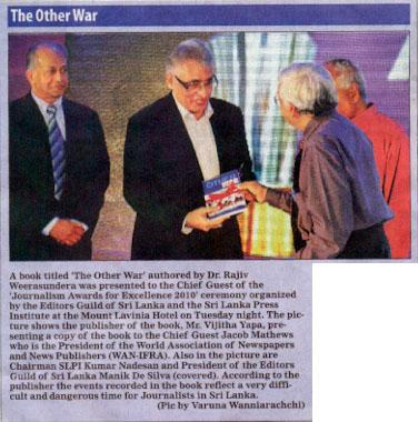The Other War reported in the Daily Mirror 27 July 2011