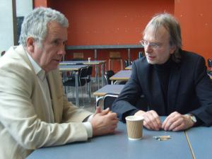 Martin Bell and Professor Richard Keeble (Photo: Michael Smith)